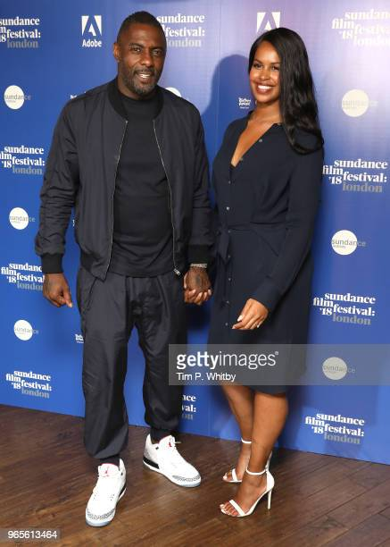 Director Idris Elba and Sabrina Dhowre attend the 'Yardie' red carpet arrivals during the Sundance Film Festival at Picturehouse Central on June 1...