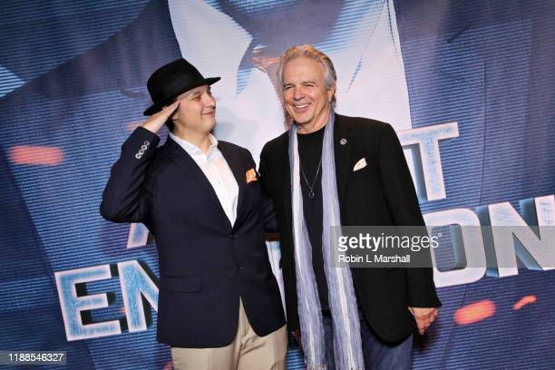 Director Ilya Rozhkov and Actor Tony Denison attend the Premiere of Agent Emerson at iPic Theater on November 18 2019 in Los Angeles California