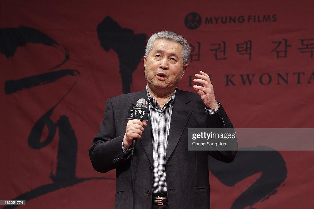 Director Im Kwon-Taek speaks during his 102nd Film 'Hwajang' Press Conference during the 18th Busan International Film Festival on October 4, 2013 in Busan, South Korea.