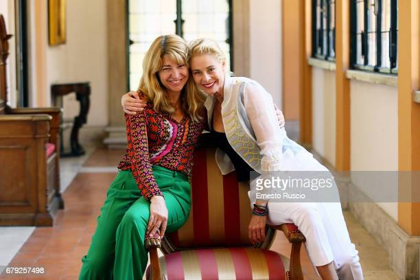 Director Ines Paris and actress Belen Rueda attend the 10 Festival Del Cine Espanol at Accademia di Spagna al Gianicolo on May 5 2017 in Rome Italy