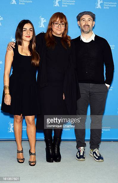 Director Isabel Coixet and actors Candela Pena and Javier Camara attend the 'Yesterday Never Ends' Photocall during the 63rd Berlinale International...