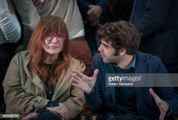 Director Isabel Coixet and David Verdaguer pose for the press during a candidate presentation for the 10th Gaudi Awards 2018 at the Hotel Mandarin...