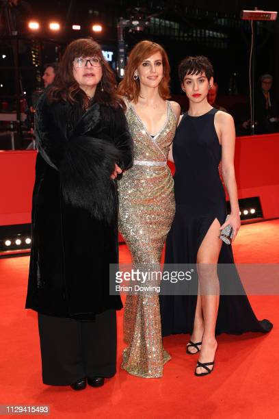 Director Isabel Coixet Natalia de Molina and Greta Fernandez attend the premiere for the screening of the Netflix film Elisa Y Marcela during the...