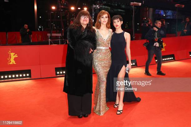 Director Isabel Coixet Natalia de Molina and Greta Fernandez attend the premiere for the screening of the Netflix film 'Elisa Y Marcela' during the...