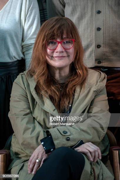 Director Isabel Coixet poses for the press during a candidate presentation for the 10th Gaudi Awards 2018 at the Hotel Mandarin Oriental on January...