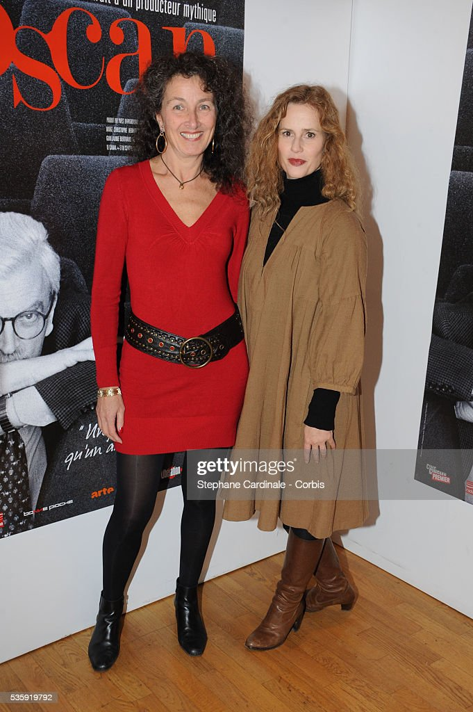 Director Isabelle Partiot-Pieri and Florence Darel attend the 'Toscan' documentary premiere at Cinema l'Arlequin in Paris.