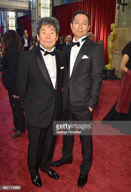 Director Isao Takahata and producer Yoshiaki Nishimura attend the 87th Annual Academy Awards at Hollywood & Highland Center on February 22, 2015 in...