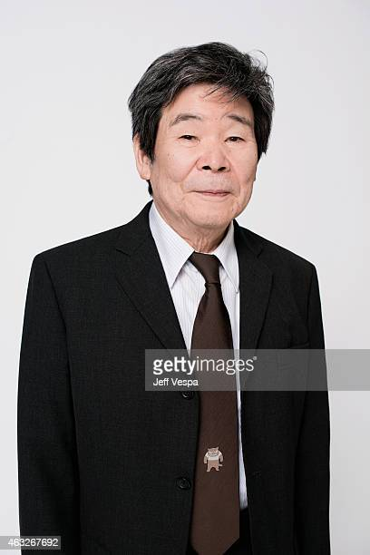 Director Isao Takahata poses for a portraits at the 87th Academy Awards Nominee Luncheon at the Beverly Hilton Hotel on February 2, 2015 in Beverly...