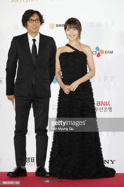 Director Isao Yukisada and actress Kasumi Arimura from Japan attend the Opening Ceremony of the 22nd Busan International Film Festival on October 12...