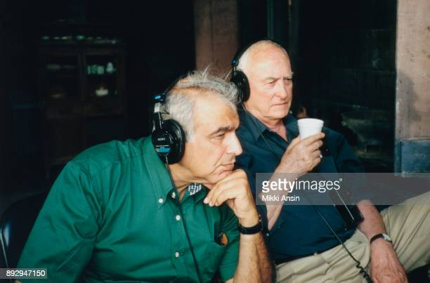 Director Ismail Merchant is assisted by Director James Ivory while filming 'The Mystic Masseur' in Trinidad in 2001