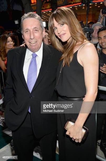 """Director Ivan Reitman and actress Jennifer Garner attend Premiere Of Summit Entertainment's """"Draft Day"""" at Regency Bruin Theatre on April 7, 2014 in..."""