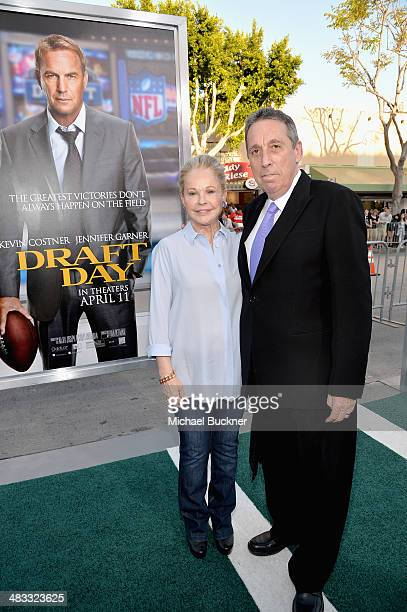 """Director Ivan Reitman and wife Geneviève Robert attend Premiere Of Summit Entertainment's """"Draft Day"""" at Regency Bruin Theatre on April 7, 2014 in..."""