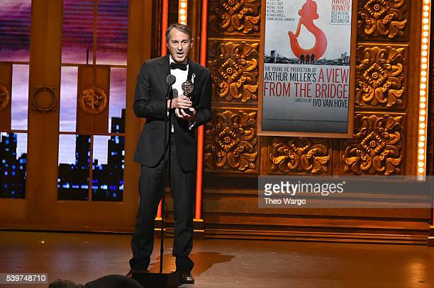 Director Ivo van Hove accepts an award onstage during the 70th Annual Tony Awards at The Beacon Theatre on June 12 2016 in New York City