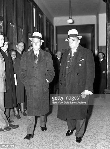 Director J. Edgar Hoover and Assistant Director Clyde Tolson attending Foxworth funeral.