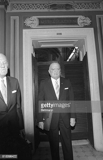 Director J. Edgar Hoover told newsmen, after appearing before the Senate Appropriations Subcommittee, that the FBI has disclosed a plot by a militant...