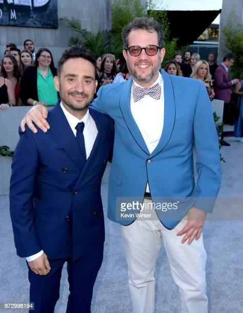 Director JA Bayona and composer Michael Giacchino arrive at the premiere of Universal Pictures and Amblin Entertainment's 'Jurassic World Fallen...