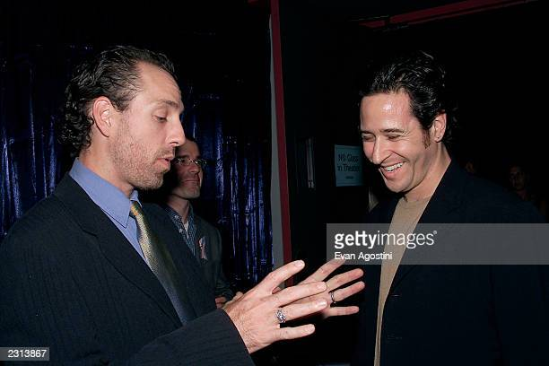 Director Jace Alexander chats with Rob Morrow at the Project ALS Gala Benefit and World Premiere of Jenifer at the Loews Astor Plaza in New York City...
