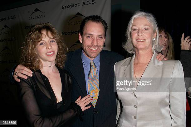 Director Jace Alexander with his wife Maddie Corman and mother Jane Alexander at the Project ALS Gala Benefit and World Premiere of Jenifer at the...