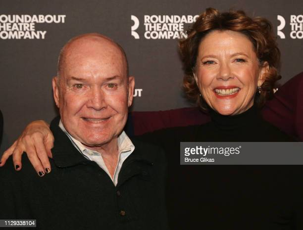 Director Jack O'Brien and Annette Bening pose at a photo call for the Roundabout Theatre Company production of Arthur Miller's 'All My Sons' on...