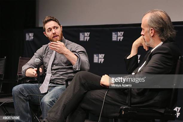 Director Jacob Bernstein and film writer Kent Jones speak at 'Everything Is Copy' Q A during 53rd New York Film Festival at Walter Reade Theater on...