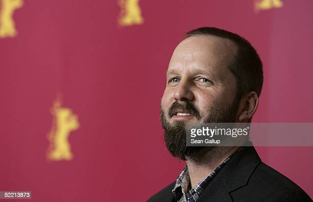 Director Jacob Thuesen poses at the Anklaget Photocall at the 55th annual Berlinale International Film Festival on February 18 2005 in Berlin Germany