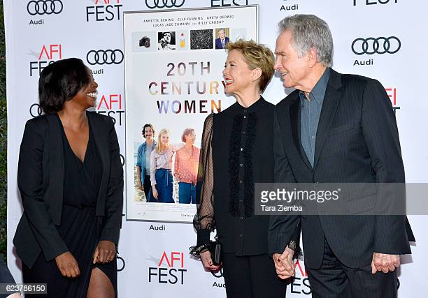 AFI FEST Director Jacqueline Lyang actress Annette Bening and actor Warren Beatty attend a tribute to Annette Bening and gala screening of A24's 20th...