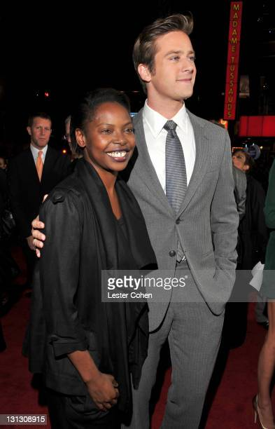 """Director Jacqueline Lyanga and actor Armie Hammer arrive at the AFI Fest 2011 Opening Night Gala World Premiere Of """"J. Edgar"""" at Grauman's Chinese..."""