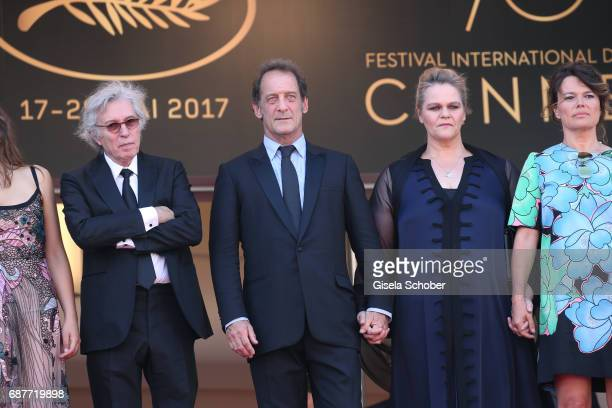 Director Jacques Doillon Vincent Lindon Severine Caneele and Kristina Larsen attend the Rodin screening during the 70th annual Cannes Film Festival...