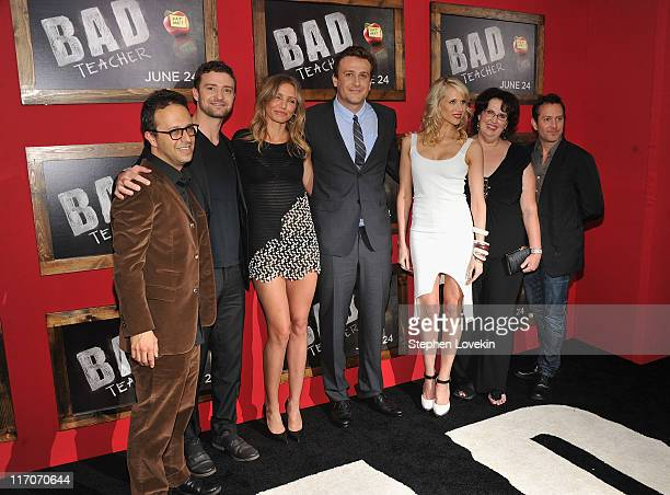 """Director Jake Kasdan and actors Justin Timberlake; Cameron Diaz, Jason Segel, Lucy Punch, Phyllis Smith and Tom Lennon attend the premiere of """"Bad..."""