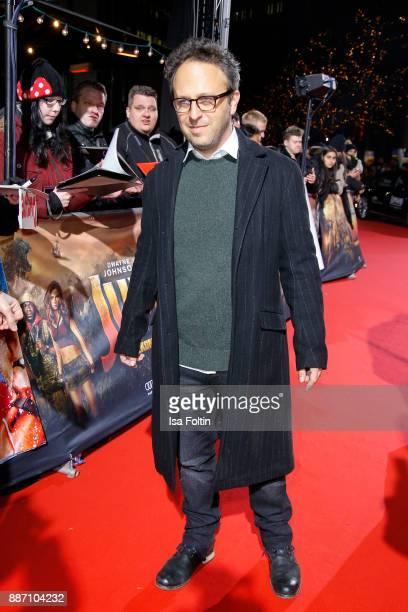 Director Jake Kasdan attends the German premiere of 'Jumanji Willkommen im Dschungel' at Sony Centre on December 6 2017 in Berlin Germany