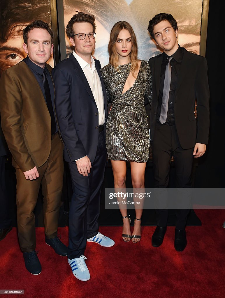 Director Jake Schreier, writer John Green, actors Cara Delevingne and Nat Wolff attend the New York premiere of 'Paper Towns' at AMC Loews Lincoln Square on July 21, 2015 in New York City.