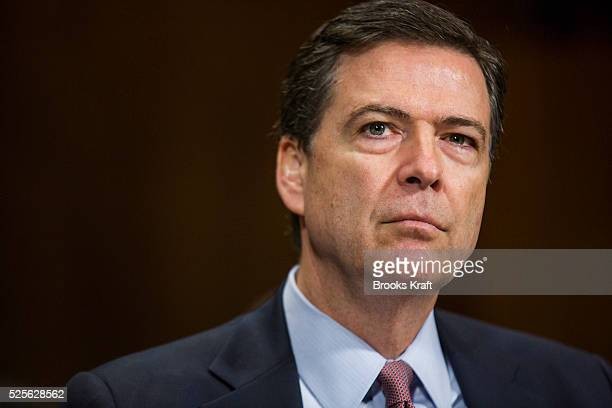 FBI Director James B Comey testifies in front of the Senate Judiciary Committee on Capitol Hill in Washington