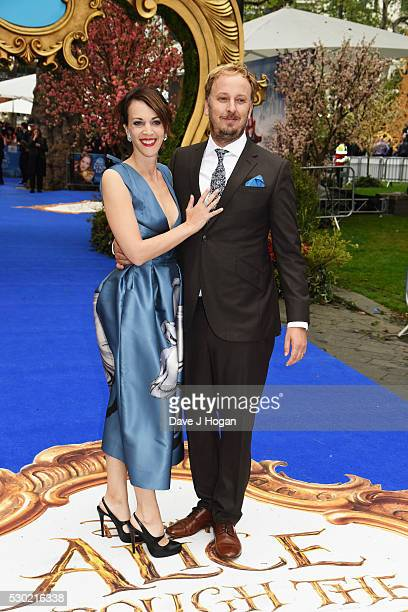 Director James Bobin and his wife Francesca Beauman attend the European Premiere of 'Alice Through The Looking Glass' at Odeon Leicester Square on...