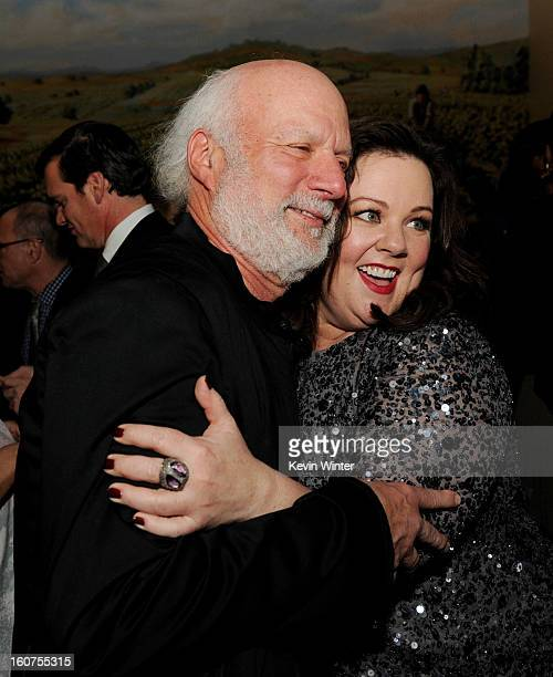 """Director James Burrows and actress Melissa McCarthy pose at the after party for the premiere of Universal Pictures' """"Identity Thief"""" at Napa Valley..."""