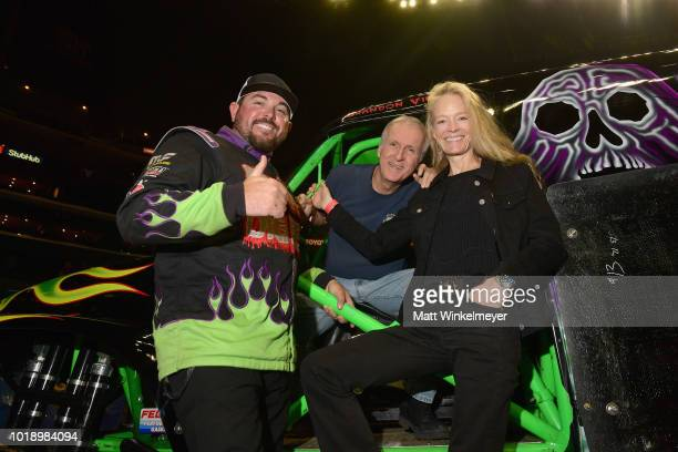 Director James Cameron and his wife actress Suzy Amis Cameron attend Monster Jam at STAPLES Center on Saturday August 18 2018 in Los Angeles CAa