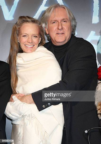 Director James Cameron and his wife Suzy Amis attend the 'Avatar' Japan Premiere at Roppongi Hills on December 21 2009 in Tokyo Japan The film will...
