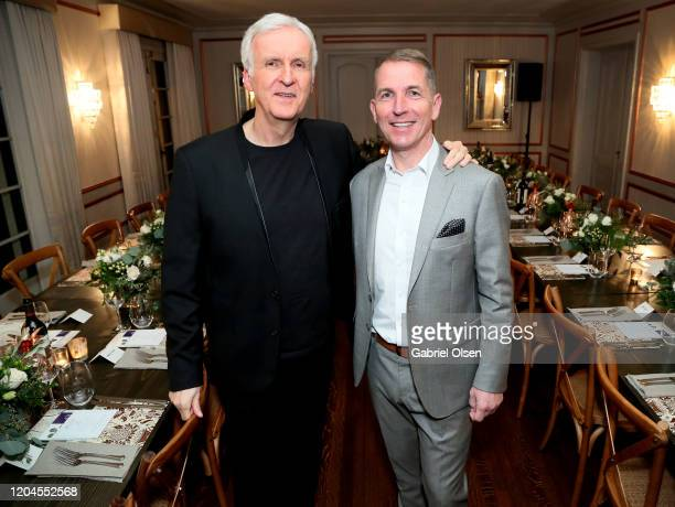 Director James Cameron and Lenzing Global Branding VP Harold Weghorst attends Red Carpet Green Dress at the Private Residence of Jonas Tahlin CEO of...