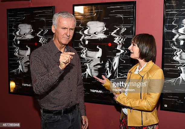 Director James Cameron and Producer Gale Anne Hurd attend the American Cinematheque 30th Anniversary Screening Of The Terminator at the Egyptian...