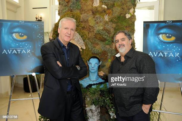Director James Cameron and producer Jon Landau attend the 'Avatar' Global Media Day in celebration of the April 22nd Earth Day Bluray Disc and DVD...