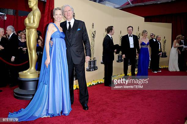 Director James Cameron and wife actress Suzy Amis arrive at the 82nd Annual Academy Awards held at Kodak Theatre on March 7 2010 in Hollywood...