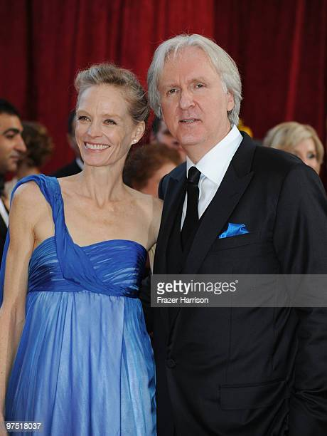 Director James Cameron and wife actress Suzy Amis arrives at the 82nd Annual Academy Awards held at Kodak Theatre on March 7 2010 in Hollywood...