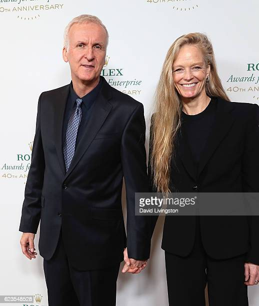 Director James Cameron and wife actress Suzy Amis Cameron attend the 40th Anniversary of Rolex Awards for Enterprise at the Dolby Theatre on November...