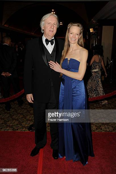 Director James Cameron and wife Suzy Amis arrive at the 62nd Annual Directors Guild Of America Awards at the Hyatt Regency Century Plaza on January...