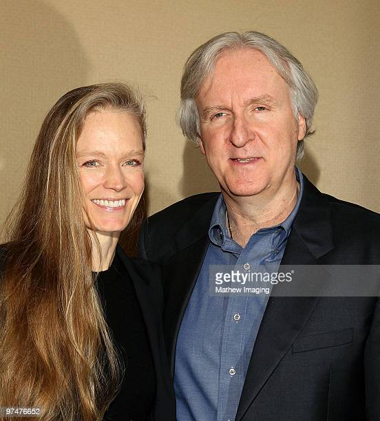 Director James Cameron and wife Suzy Amis arrives at the 47th Annual ICG Publicist Awards at the Hyatt Regency Century Plaza on March 5 2010 in...