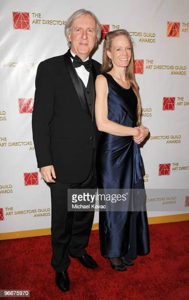 Director James Cameron and wife Suzy Amis attend the 14th Annual Art Directors Guild Awards at The Beverly Hilton Hotel on February 13 2010 in...
