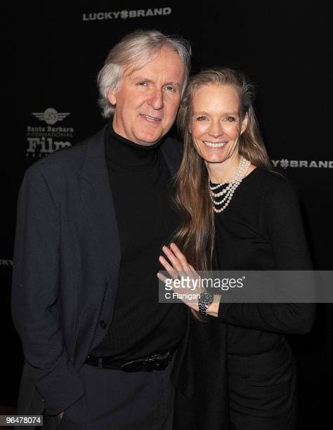 Director James Cameron and wife Suzy Amis attend the 'Modern Master' award ceremony during the 2010 Santa Barbara International Film Festival at the...