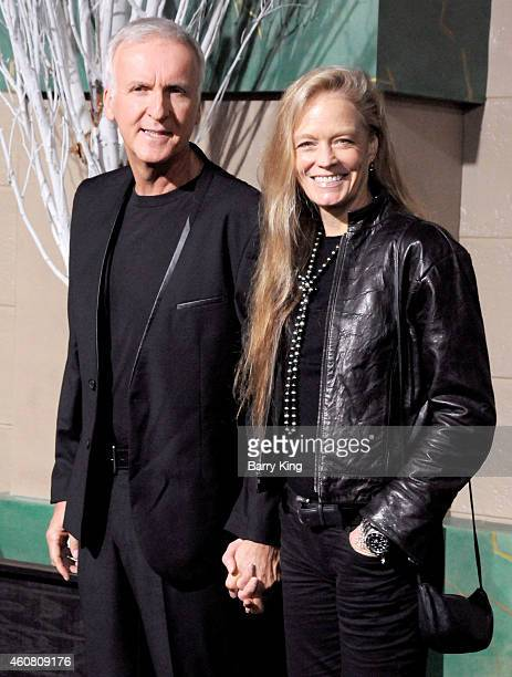 Director James Cameron and wife/actress Suzy Amis arrive at the Los Angeles Premiere 'The Hobbit: The Battle of the Five Armies' at Dolby Theatre on...