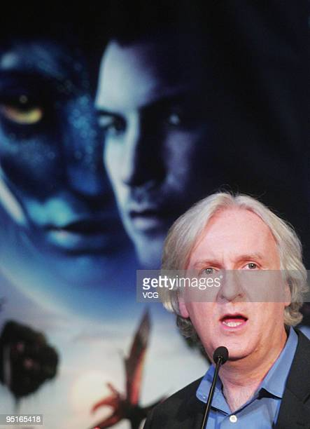 Director James Cameron attends a press conference to promote his new 3D movie 'Avatar' on December 23 2009 in Beijing China