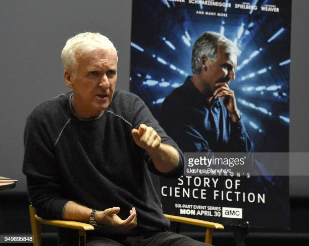 Director James Cameron attends AMC James Cameron's Story of Science Fiction Launch Visionaries on April 21 2018 in Manhattan Beach California