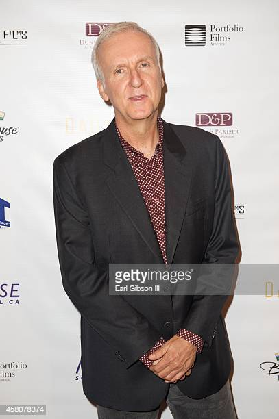 Director James Cameron attends the All You Need Is Love Los Angeles premiere at Ray Kurtzman Theater on October 29 2014 in Los Angeles California